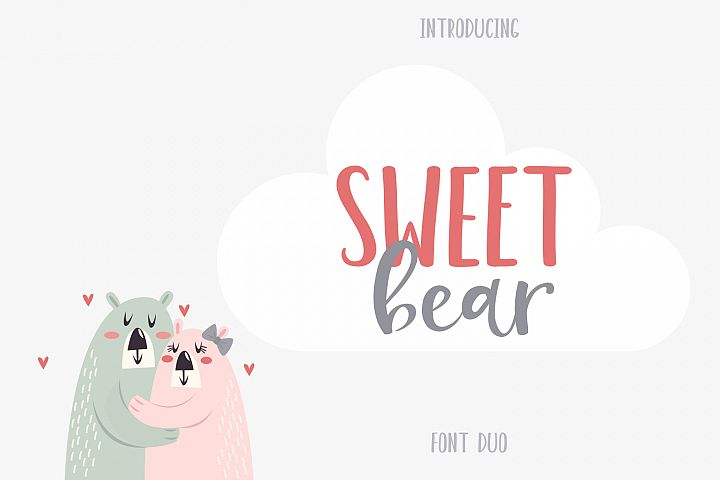 Sweet Bear Font Duo