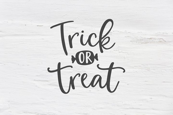 Trick or treat Halloween SVG, EPS, PNG, DXF