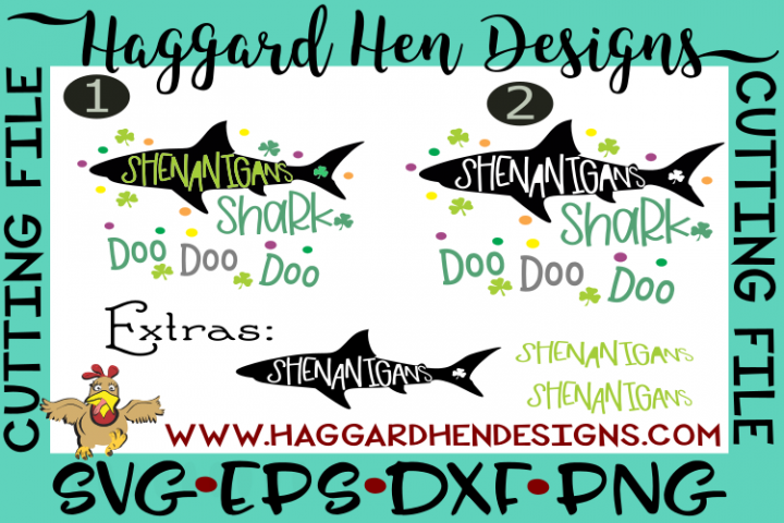 Shenanigans Shark SVG