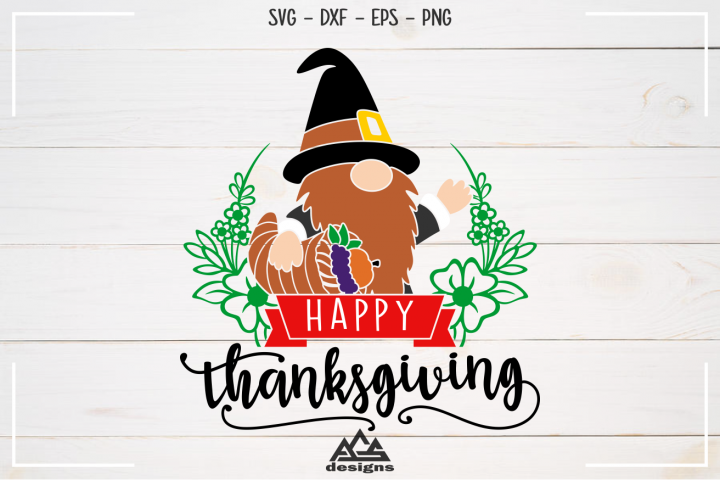 Gnome Happy Thanksgiving Svg Design