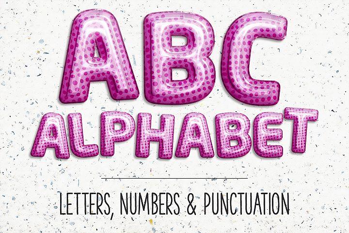 Pink Balloons Alphabet