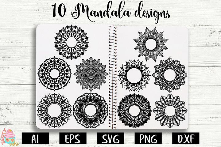 Mandalas Monogram SVG - Mandala Bundle