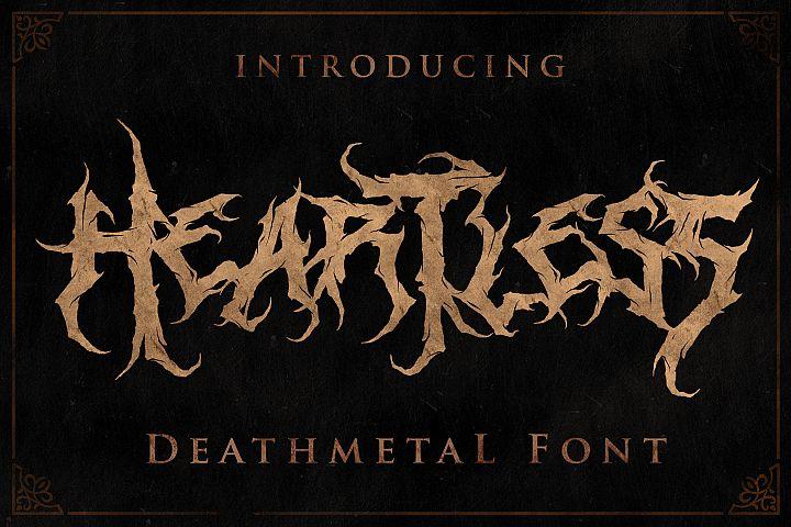 Heartless - Deathmetal Font