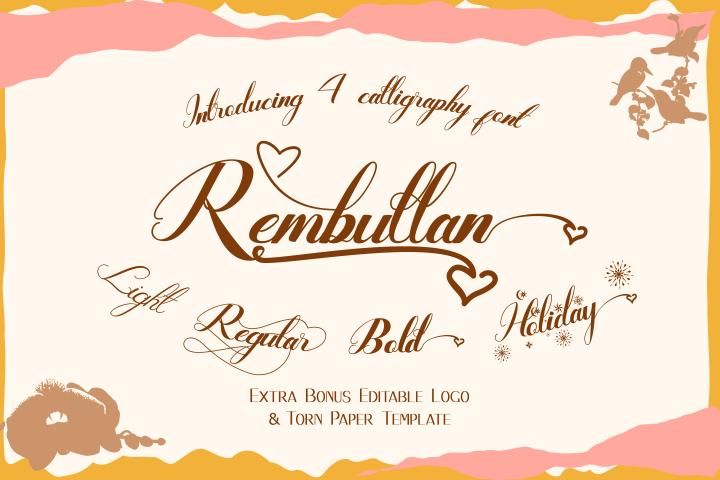 Rembullan Script Family Font