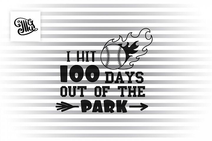 100 days of school baseball svg example image 2