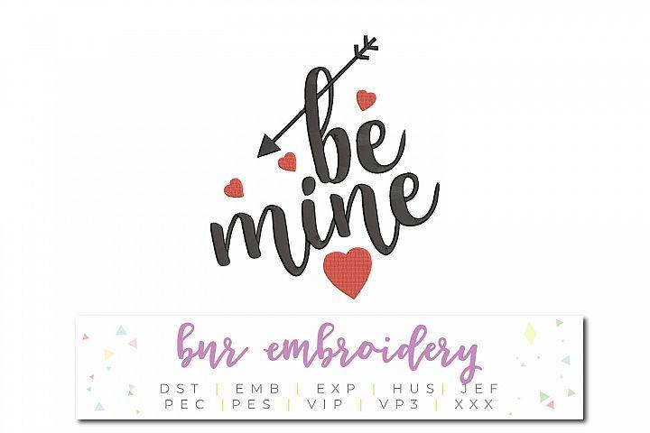 Valentine Machine Embroidery Design, Love Embroidery