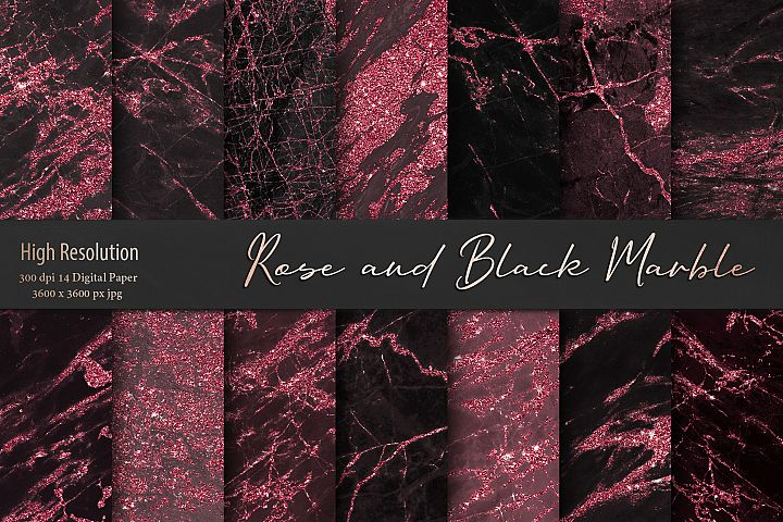 Black and Rose Marble Textures