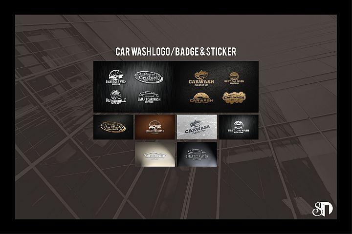 Car Wash Logo Badges Template