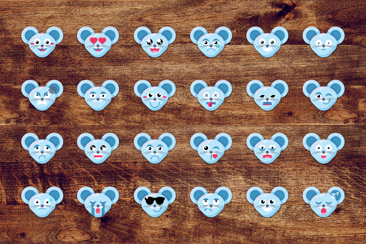 Fun Mouse Emoticons Set