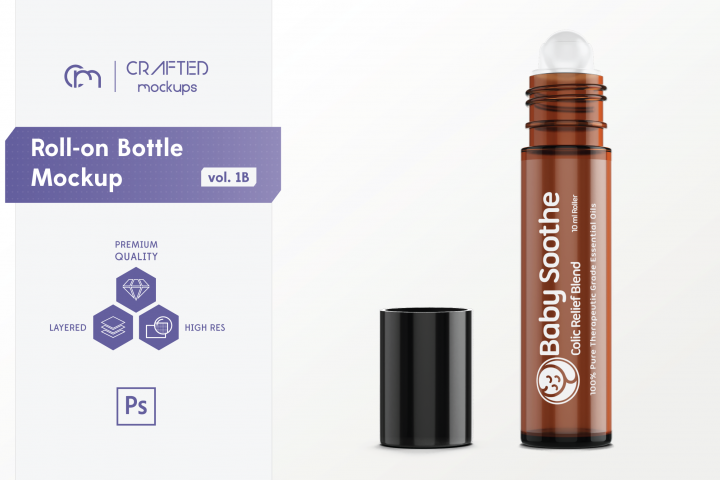 Roll-on Bottle Mockup v. 1B