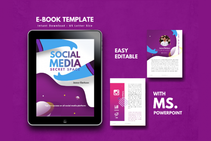 Social Media Marketing Tips eBook Template PowerPoint Presen