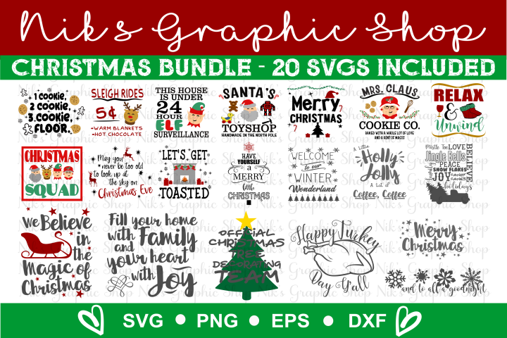 Christmas Svg Bundle, Christmas Svg, December Svg