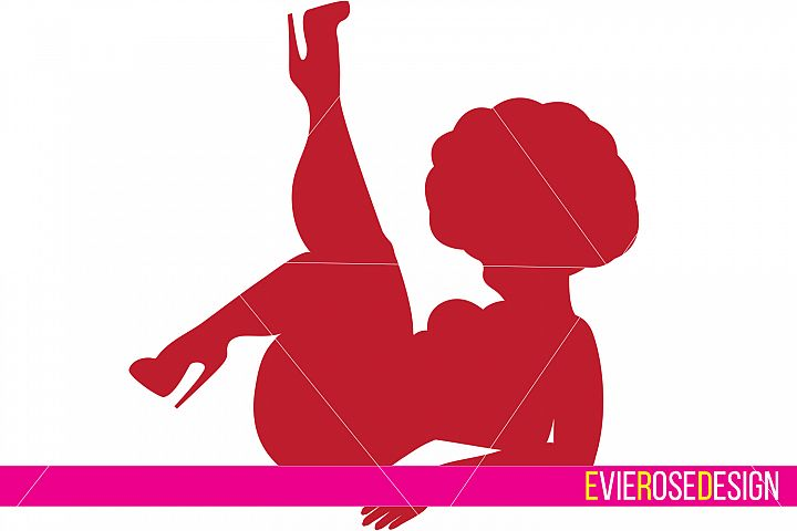 Chunky Pinup Clipart and Cut File Set