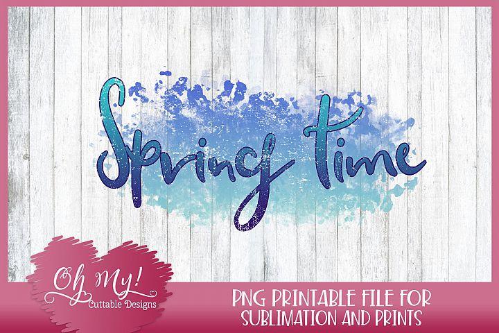 Spring Time - Sublimation - Printable Transfer - PNG