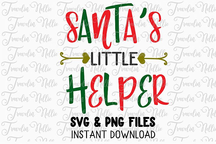 Santas Little Helper Svg Christmas Winter Holiday Cut File