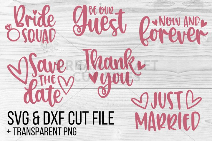 Wedding SVG DXF PNG cut files