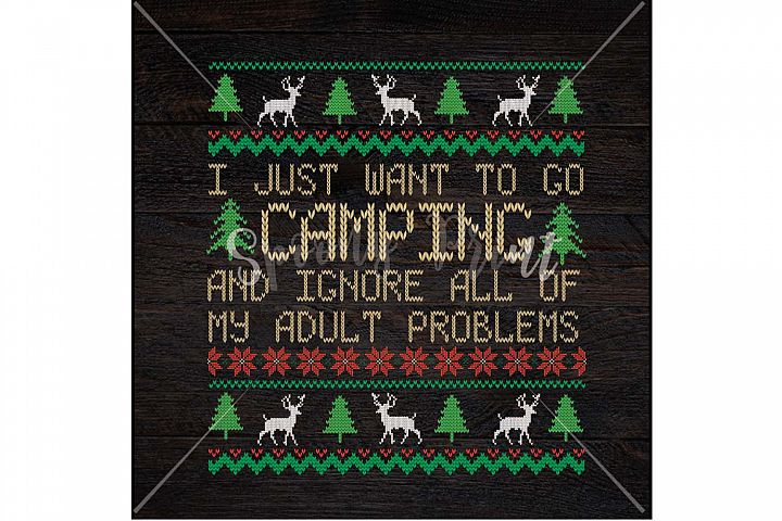 I just want to go Camping Christmas Printable