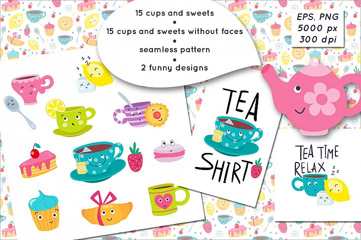 Cups and sweets funny emojis