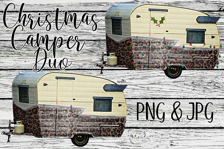 Christmas Camper Duo Sublimation Digital Download