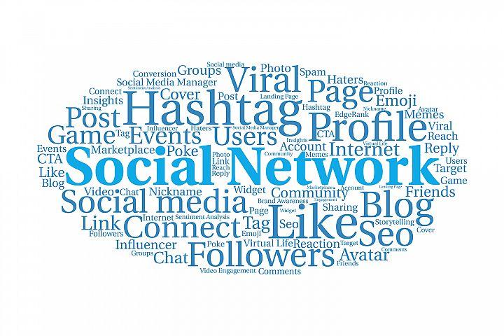 Social media network tag cloud