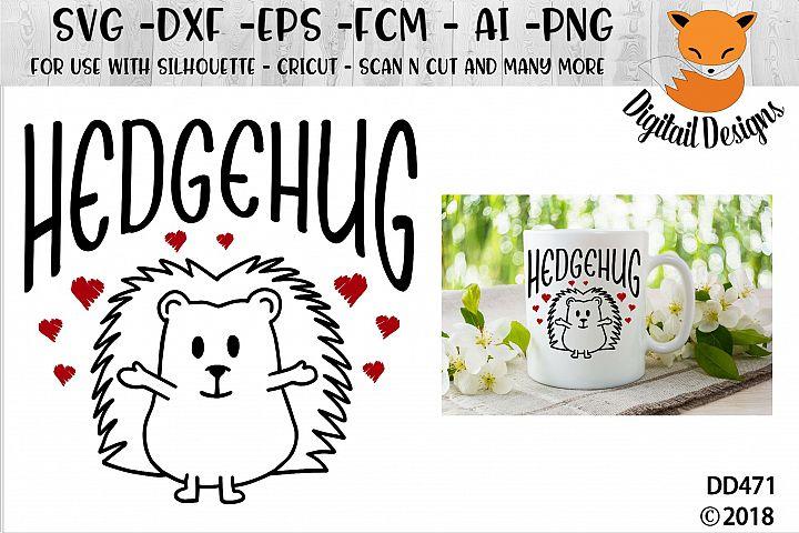 Valentine Hedgehug SVG
