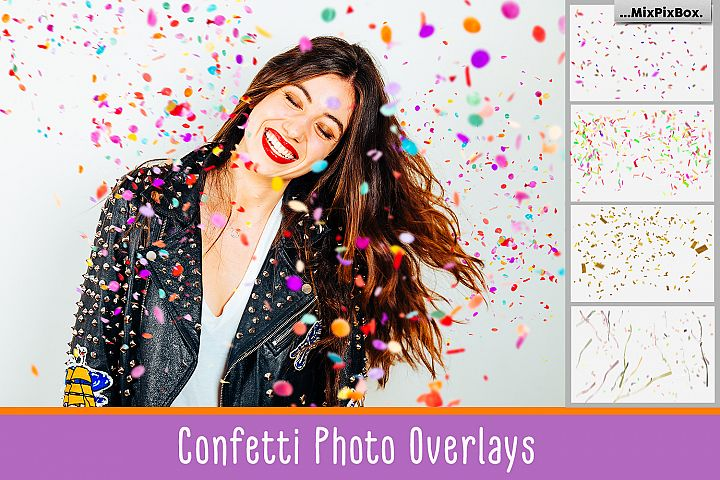 Confetti overlays  PS brushes