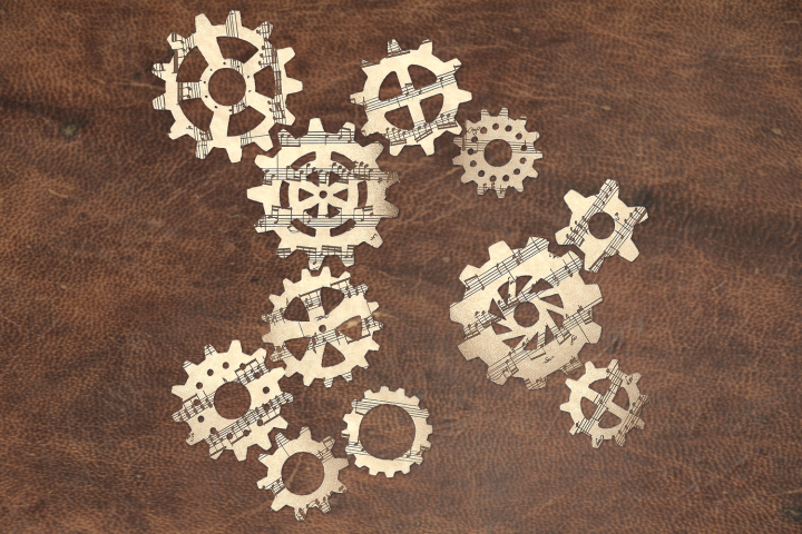 Steampunk Gear Set SVG Design