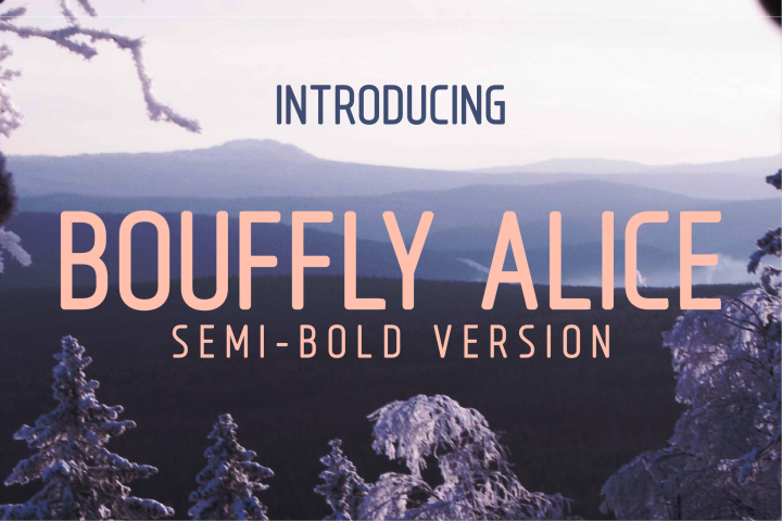 Bouffly Alice Semi-Bold Versionl Elegant font sans serif