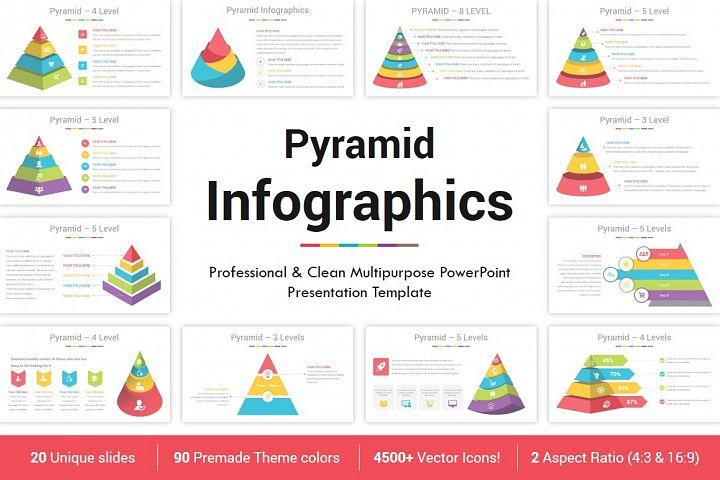 PowerPoint Pyramid Infographics
