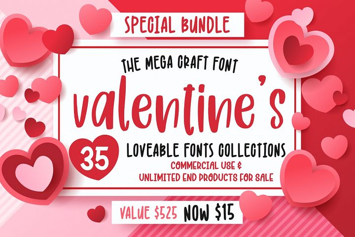 The Mega Valentines Font Collections