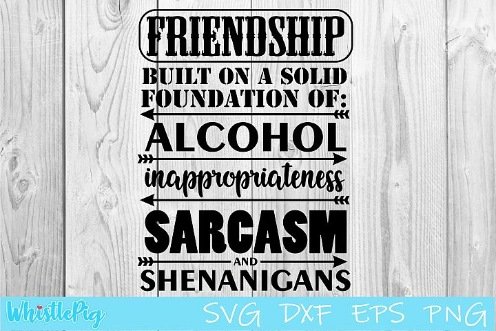 Friendship SVG DXF EPS Built on the Foundations Of SVG
