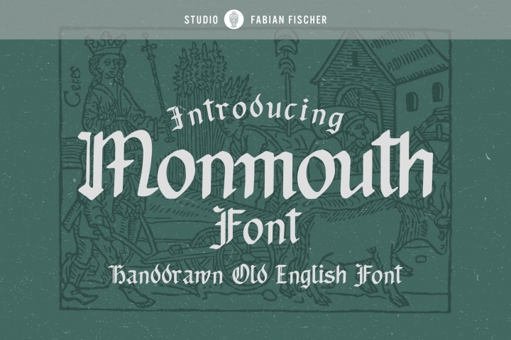 Monmouth Font - Handdrawn