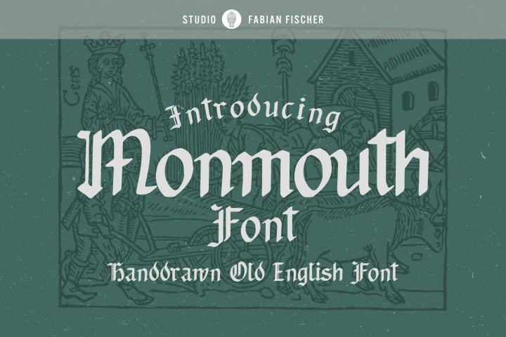 Monmouth Font - Handdrawn
