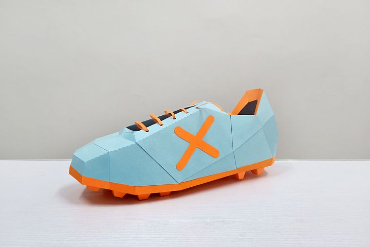 DIY Papercraft Soccer shoes,Cleats shoe,Football shoes svg