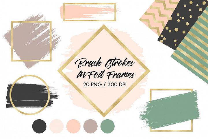 Brush Strokes & Gold Frames II