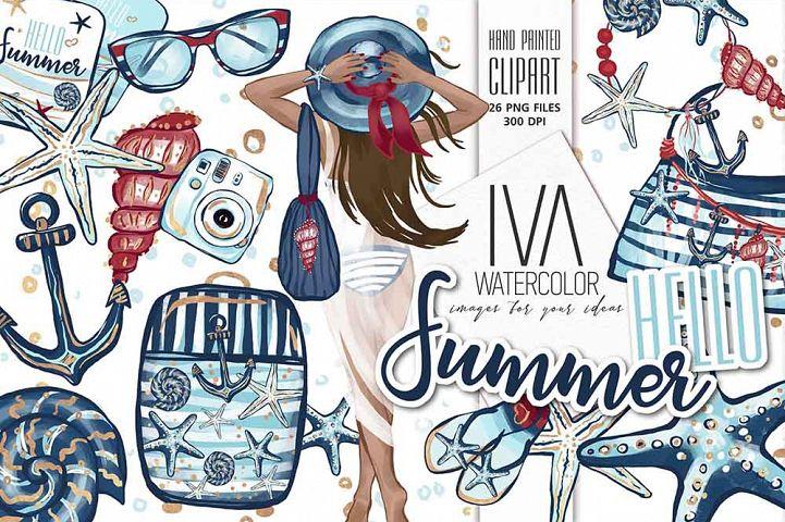 Summer Clipart, Nautical Clip Art