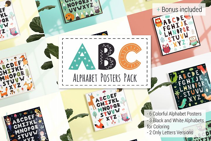 ABC Alphabet Posters Pack