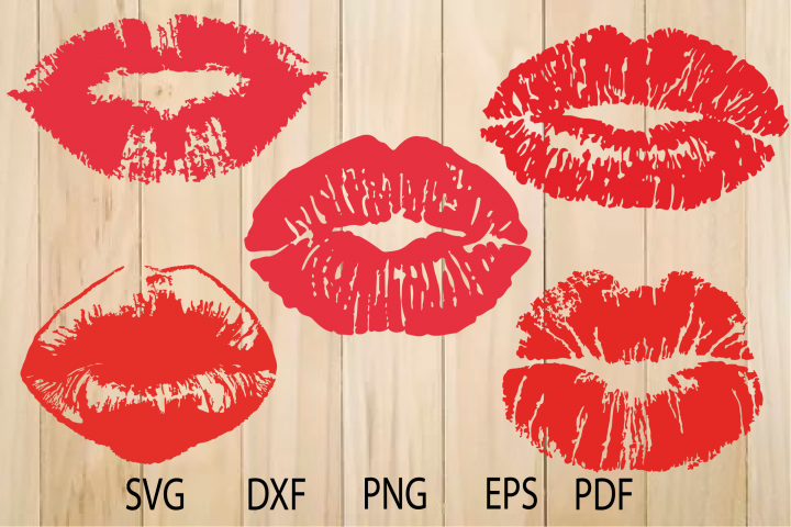 Lips SVG, Kiss Svg, Lips Print Svg, Red Lips