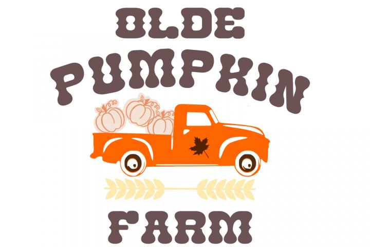 Pumpkin Farm Truck SVG File