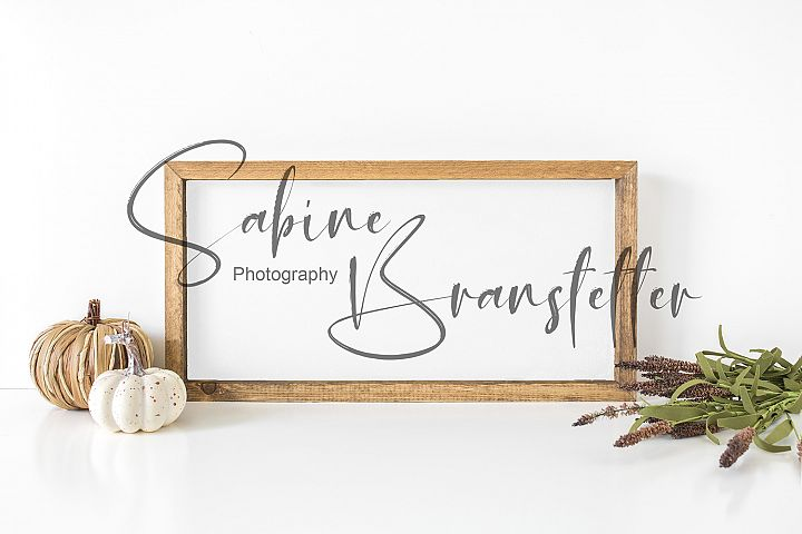 Styled Stock Photo White Rustic Wood Sign Fall Mockup