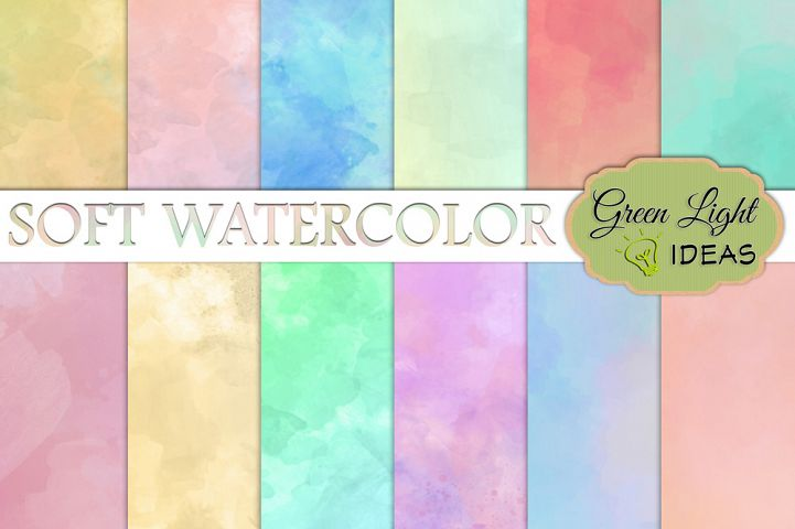 Soft Watercolor Digital Papers