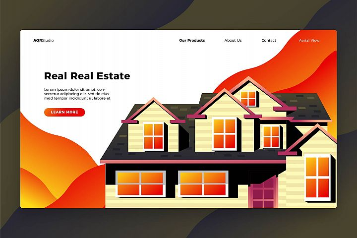Real Real Estate - Banner & Landing Page