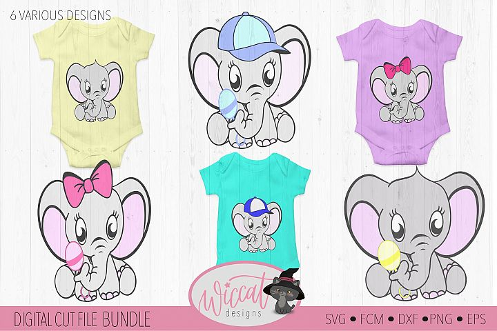 Elephant bundle, Baby elephant, Neutral boy, girl