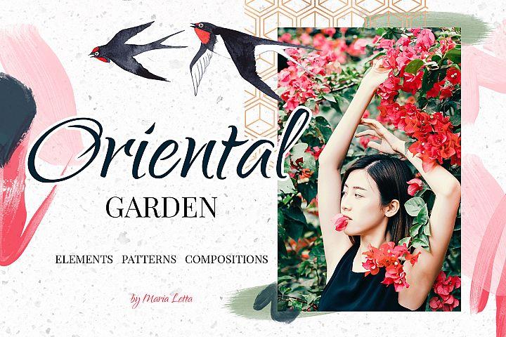 Oriental garden - chinoiserie set