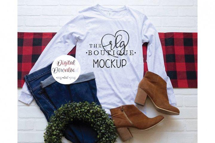 Ash Bella Canvas 3501 Shirt Christmas Mockup