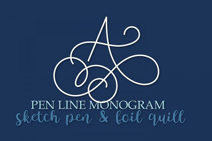 Pen Line Monogram - Sketch Pen & Foil Quill Monogram!