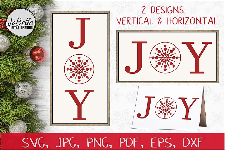 Joy Christmas SVG, Sublimation PNG & Printable