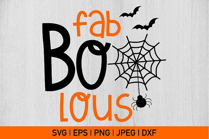Fab Bo Lous Halloween Svg, Boo Svg, Fabolous svg