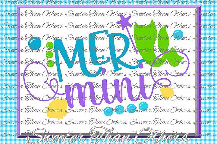 Mermaid Svg, Mermaid Life SVG, toddler file