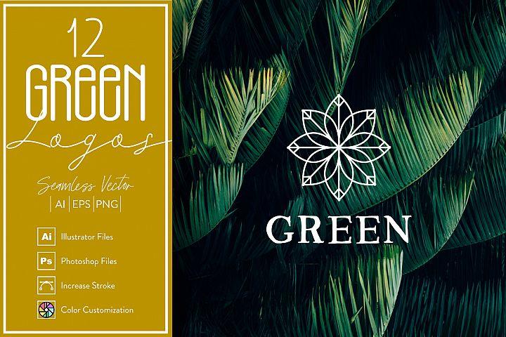 12 Green Logos